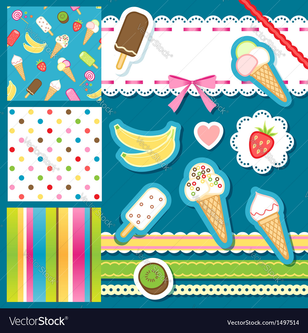 Scrap icecream vector | Price: 1 Credit (USD $1)