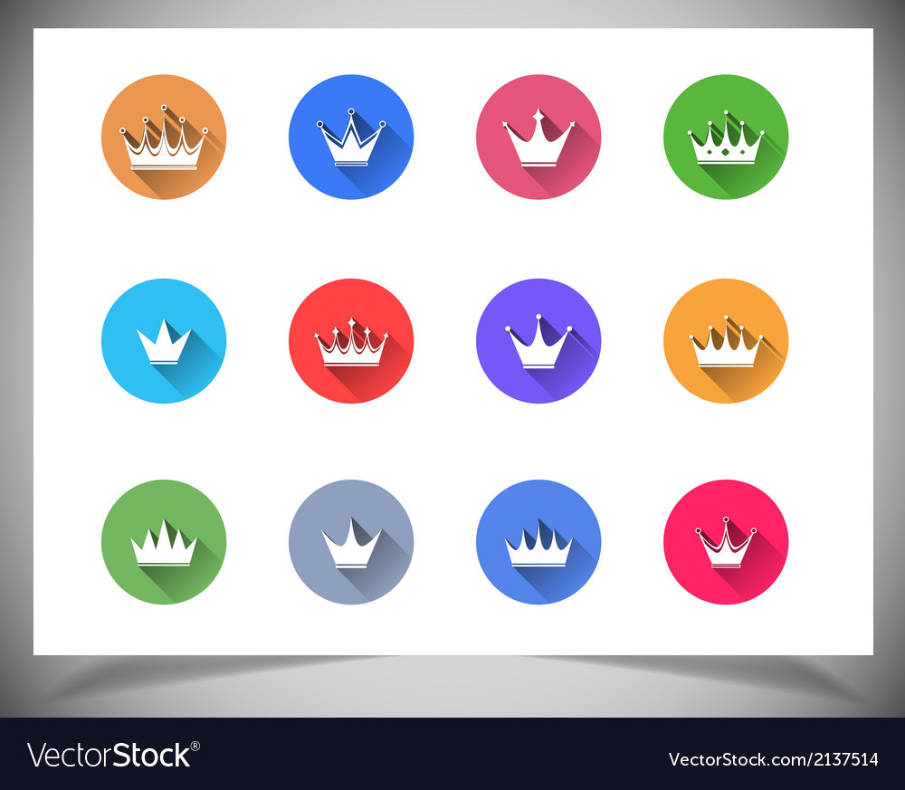Set of flat color buttons vector | Price: 1 Credit (USD $1)