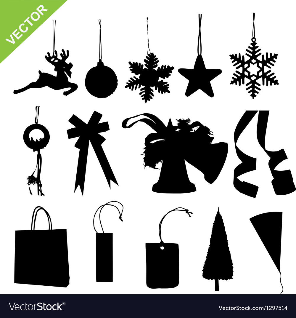 Silhouette christmas decoration vector | Price: 1 Credit (USD $1)