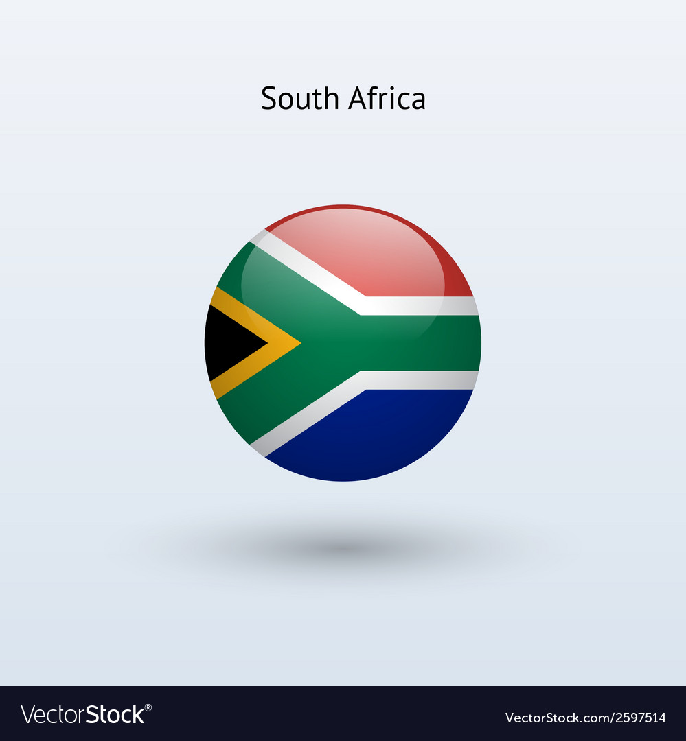 South africa round flag vector | Price: 1 Credit (USD $1)