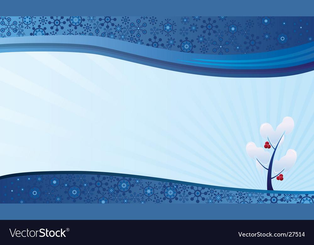 Winter nature background vector
