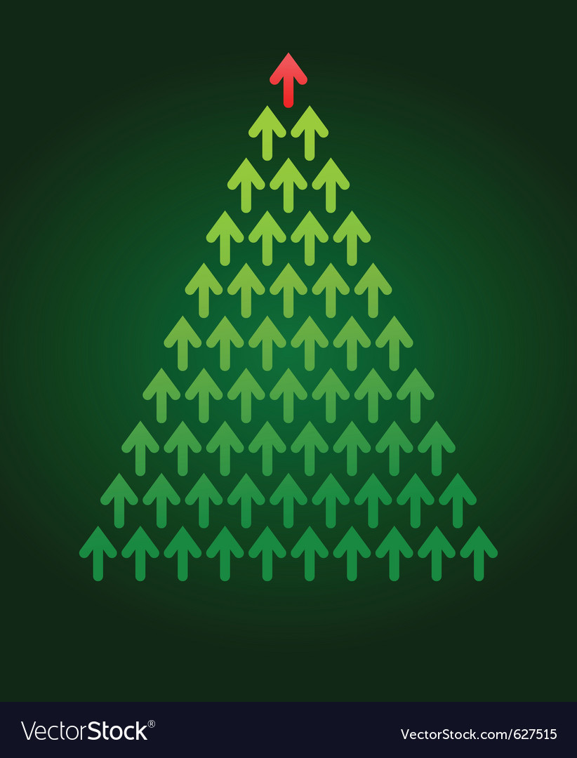 Arrow christmas tree business theme vector | Price: 1 Credit (USD $1)