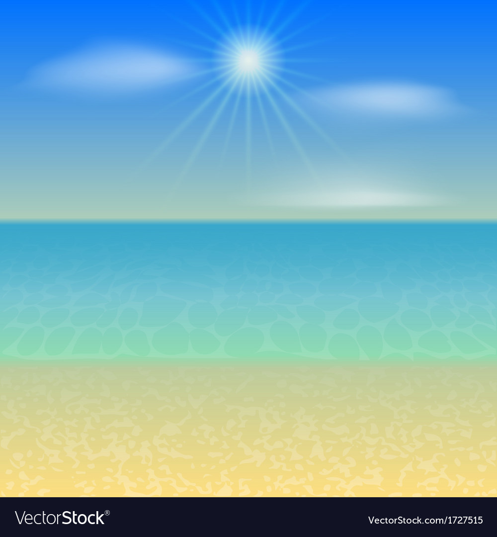 Beach holiday background vector | Price: 1 Credit (USD $1)