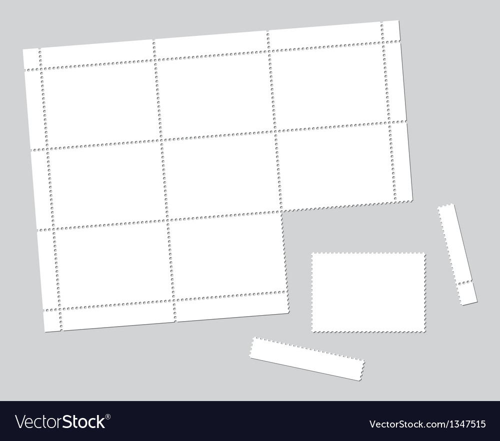 Blank stamps vector | Price: 1 Credit (USD $1)