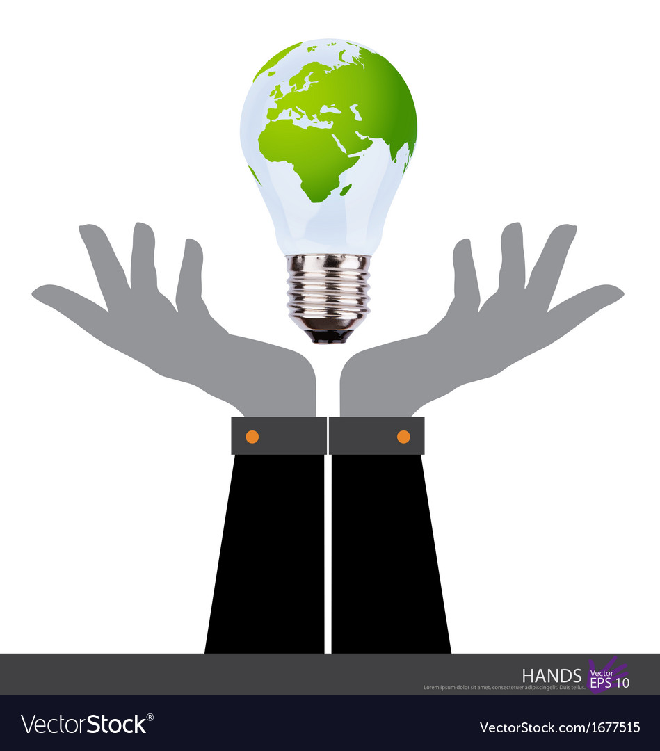Business people holding an electric light bulb vector   Price: 1 Credit (USD $1)