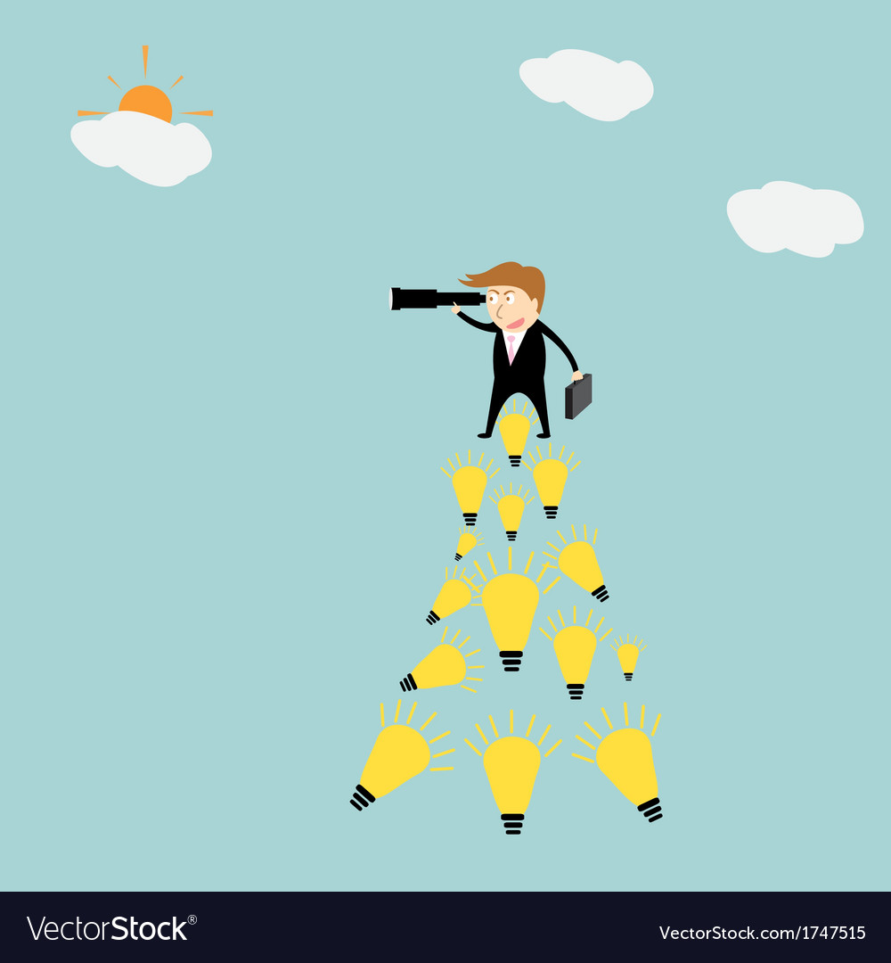 Businessman using binocular vector | Price: 1 Credit (USD $1)