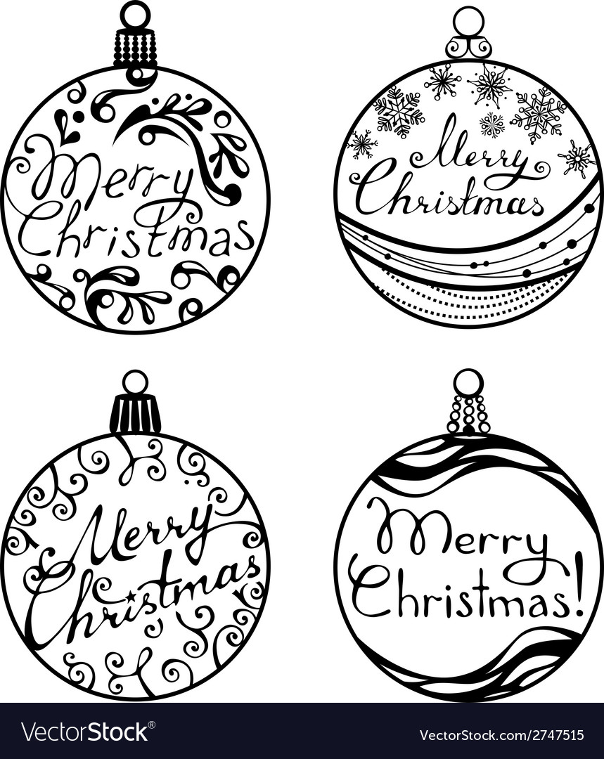 Christmas balls isolated on white background vector | Price: 1 Credit (USD $1)