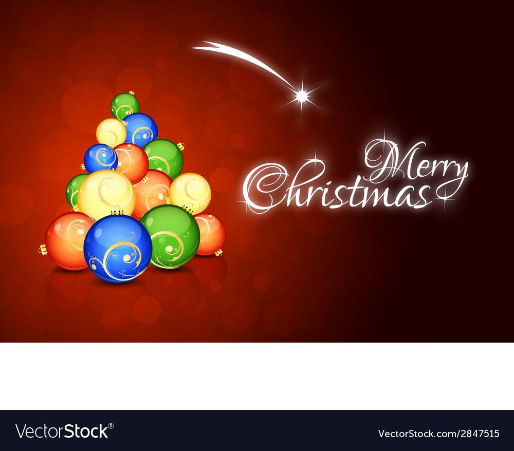 Christmas card with abstract christmas tree vector | Price: 1 Credit (USD $1)
