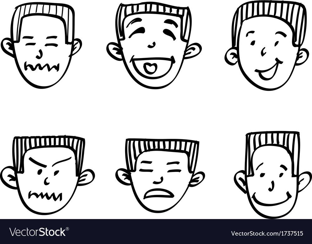 Emotions doodle vector | Price: 1 Credit (USD $1)