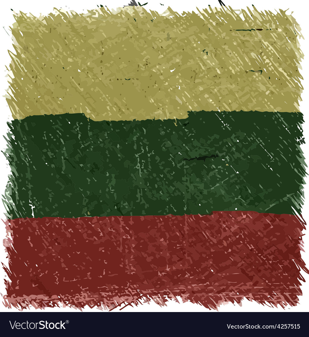 Flag of lithuania handmade square shape vector | Price: 1 Credit (USD $1)