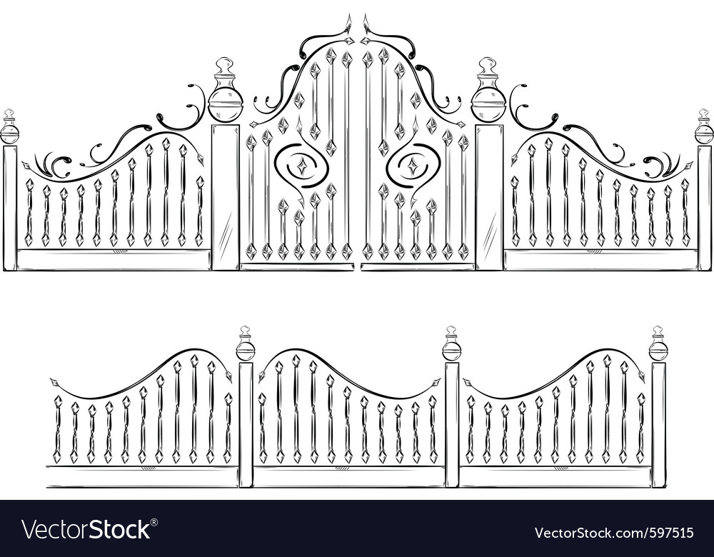 Gate drawing vector | Price: 1 Credit (USD $1)