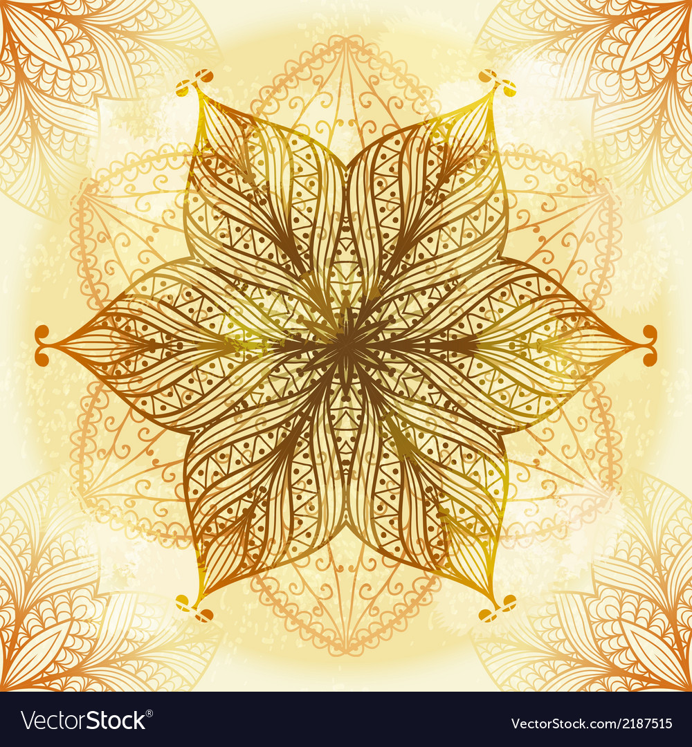 Hand drawn beige ornament vector | Price: 1 Credit (USD $1)