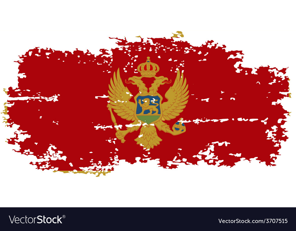 Montenegro grunge flag vector | Price: 1 Credit (USD $1)