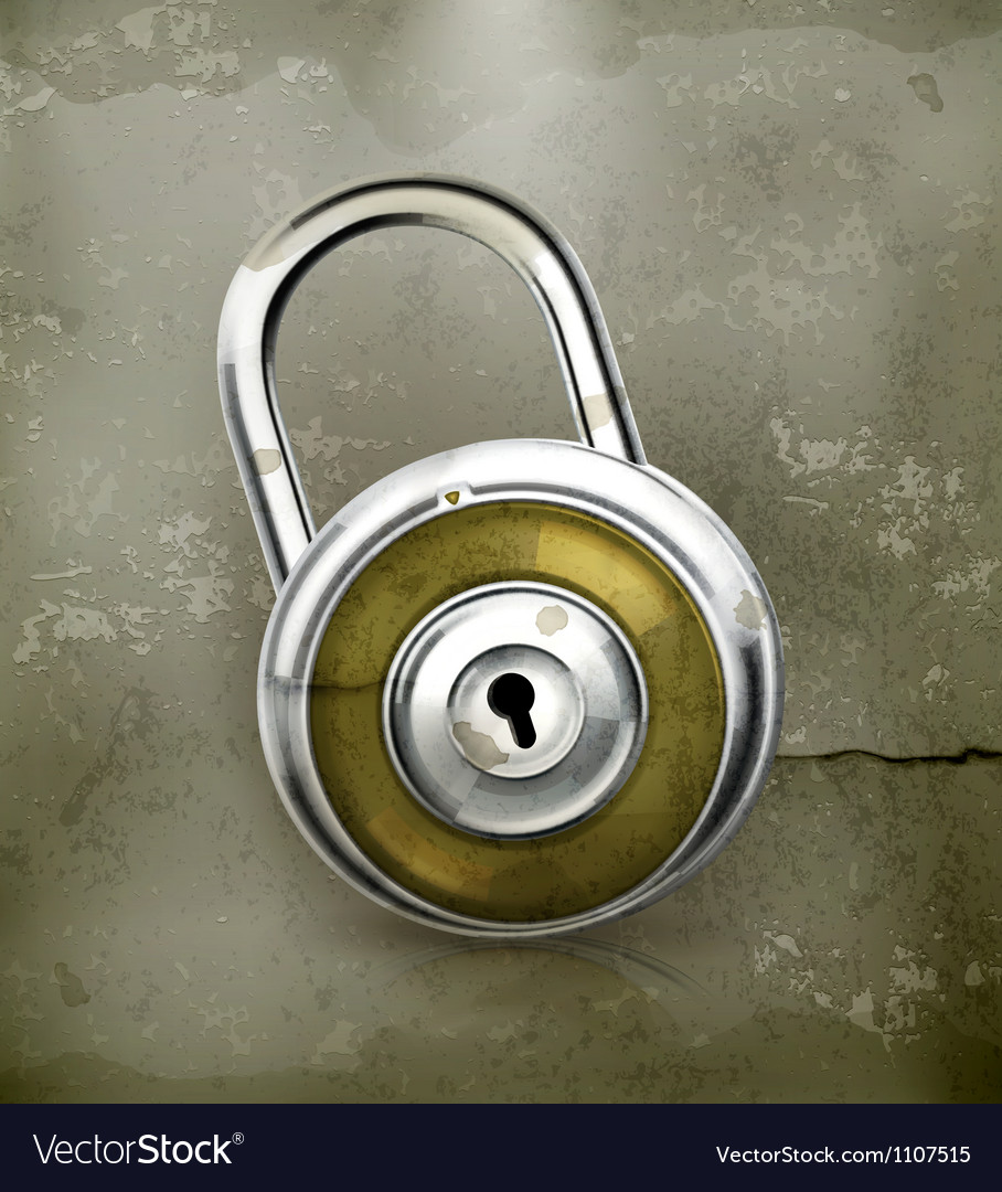 Padlock old-style vector | Price: 3 Credit (USD $3)