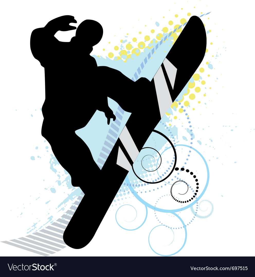 Snowboard skiers vector | Price: 1 Credit (USD $1)