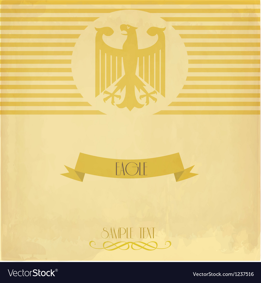 Card with the eagle vector | Price: 1 Credit (USD $1)