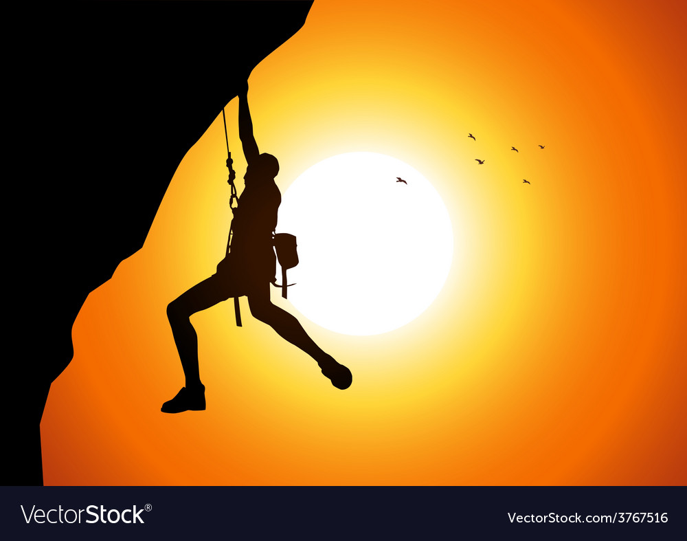 Cliff hanger vector | Price: 1 Credit (USD $1)