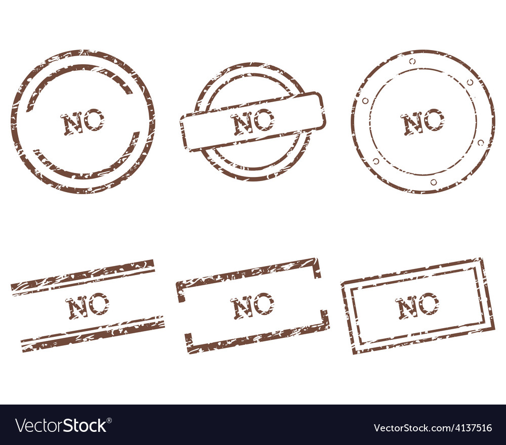 No stamps vector | Price: 1 Credit (USD $1)