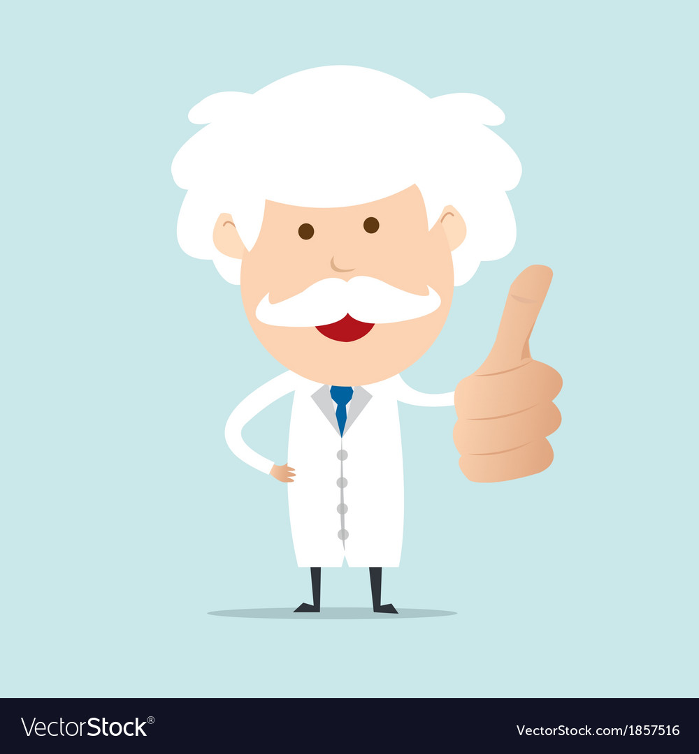 Professor show thumb up vector | Price: 1 Credit (USD $1)