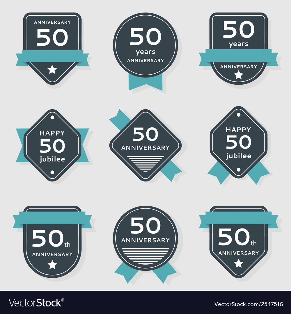 Set of anniversary banners vector | Price: 1 Credit (USD $1)