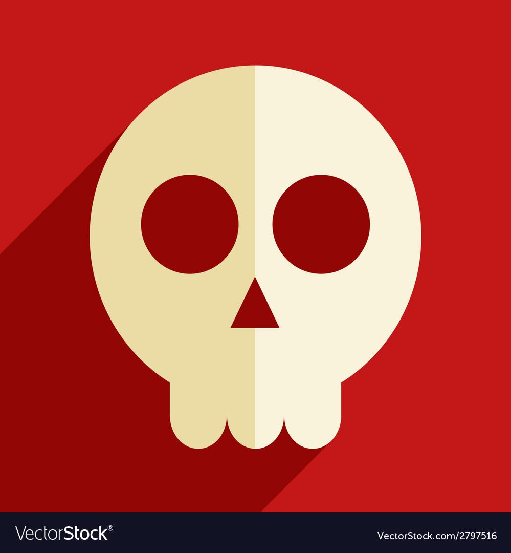 Skull flat icon vector | Price: 1 Credit (USD $1)