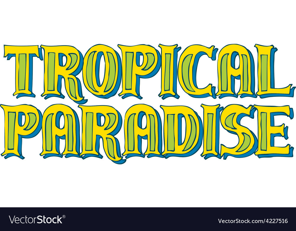 Tropical paradise logo vector | Price: 1 Credit (USD $1)