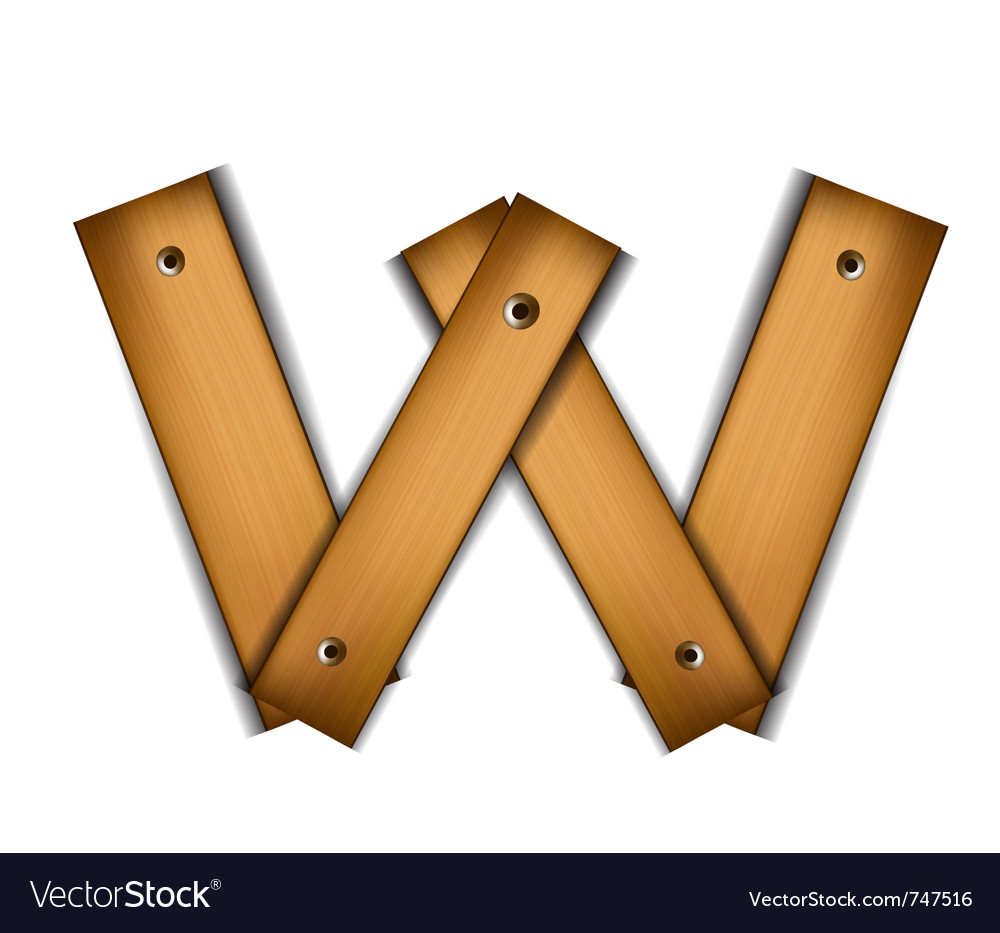 Wooden type w vector | Price: 1 Credit (USD $1)