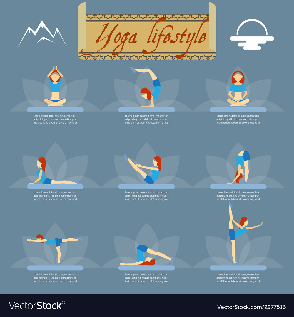 Yoga poses icons vector | Price: 1 Credit (USD $1)
