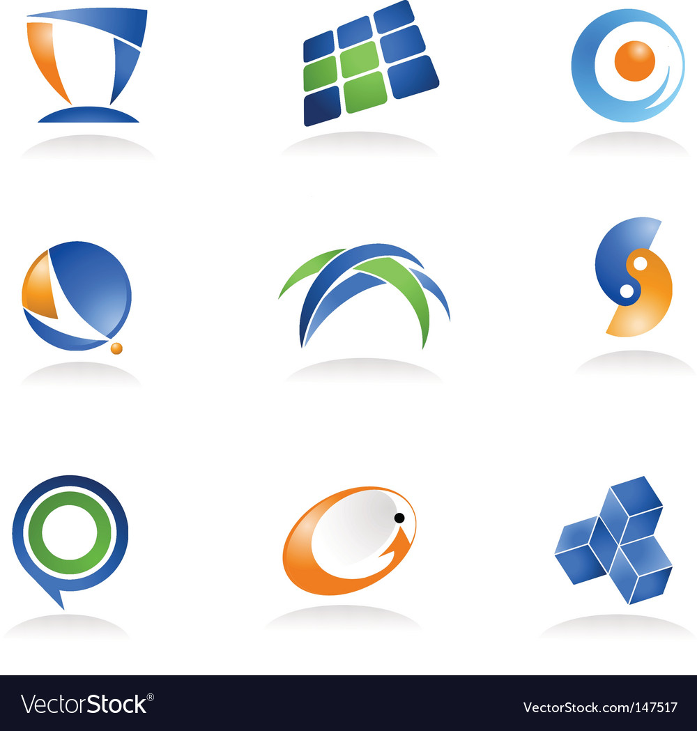 Abstract icons and logos vector | Price: 1 Credit (USD $1)