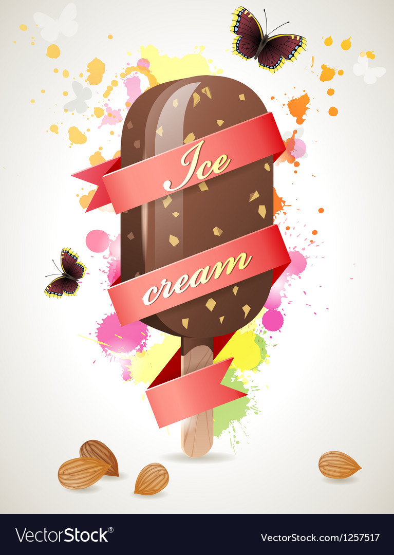 Choc ice background vector | Price: 3 Credit (USD $3)