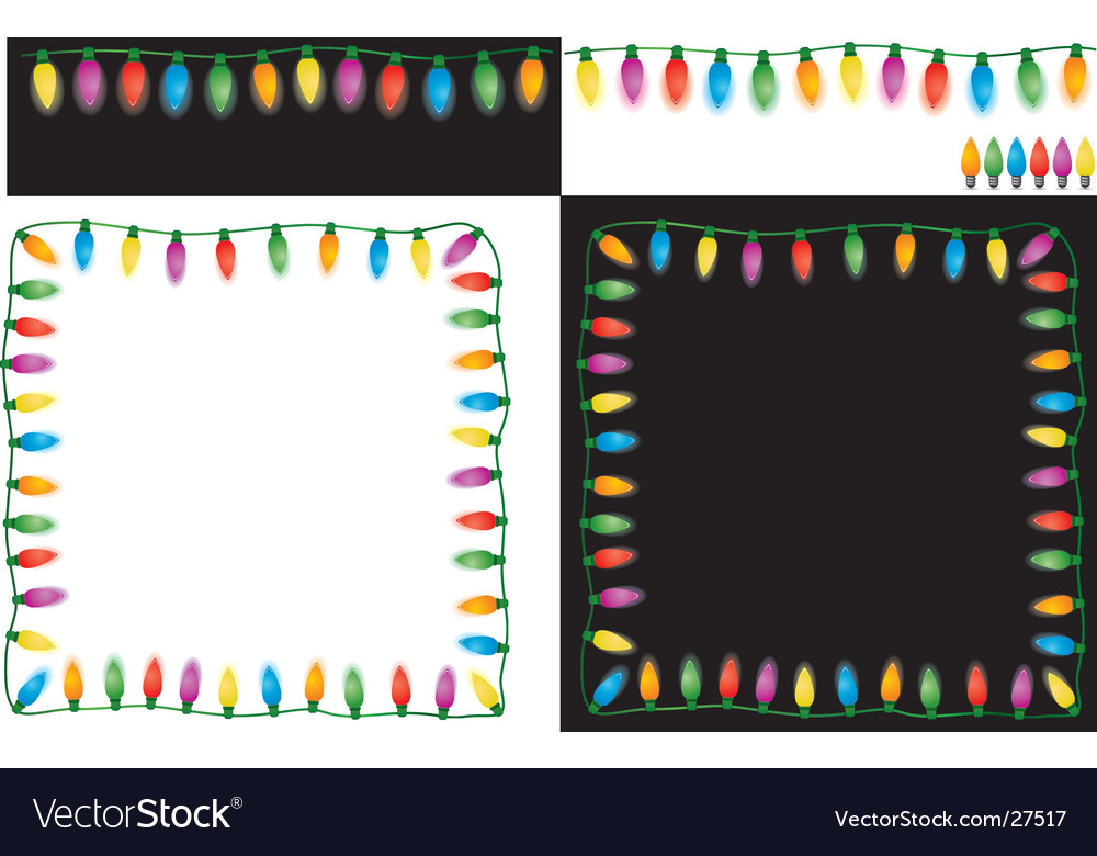 Christmas lights set vector | Price: 1 Credit (USD $1)