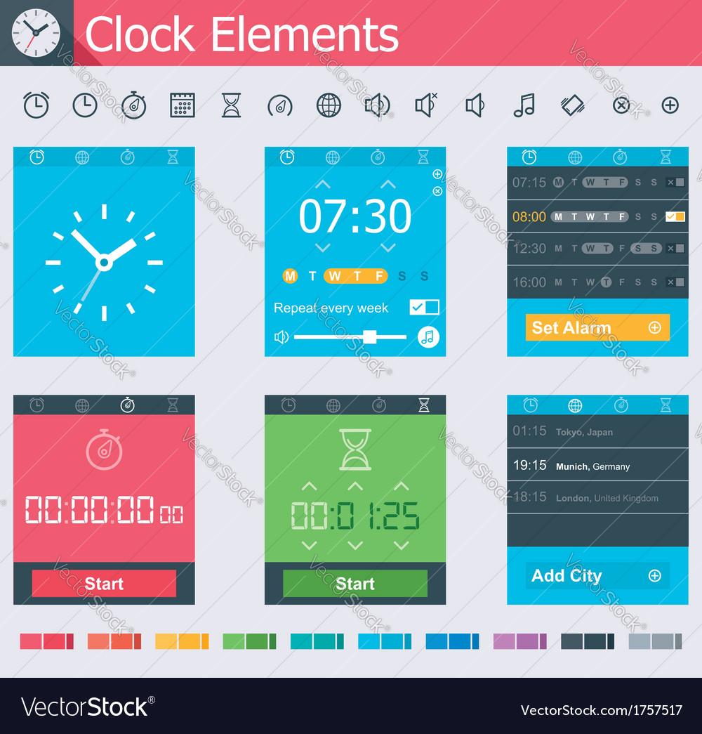 Clock elements vector | Price: 1 Credit (USD $1)