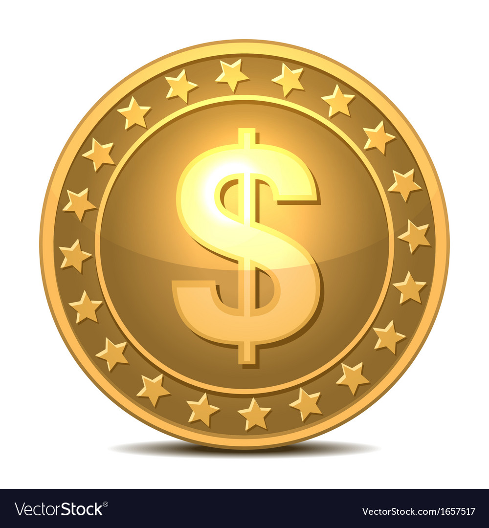 Dollars money coin vector | Price: 1 Credit (USD $1)