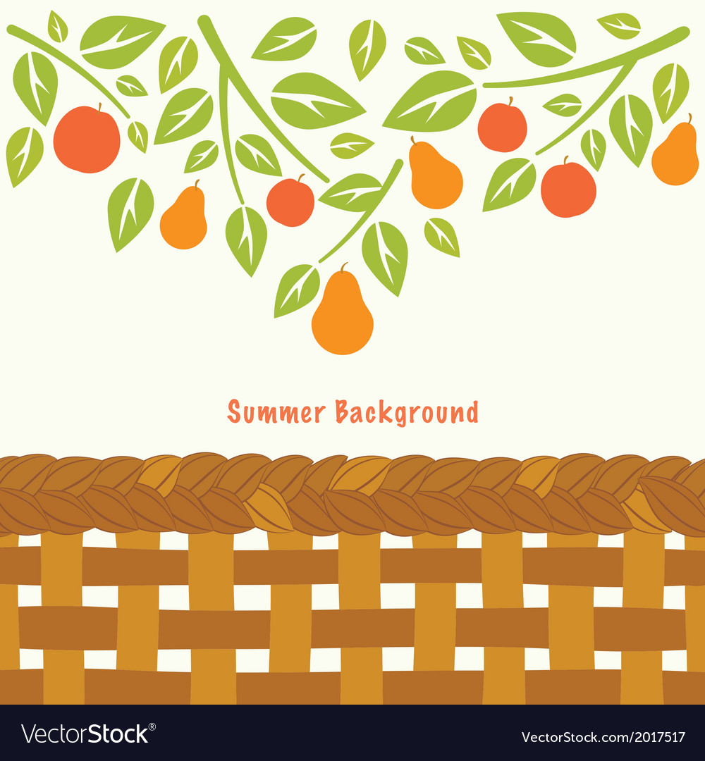 Fruit tree branch vector | Price: 1 Credit (USD $1)