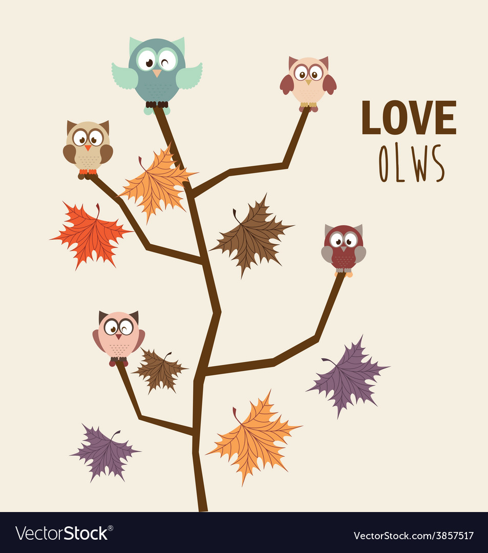 Love owls vector | Price: 1 Credit (USD $1)