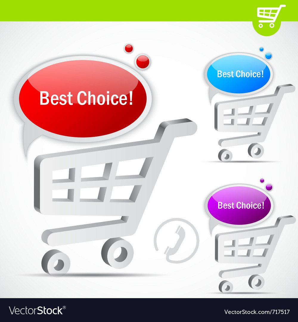 Shopping cart with bubble for speech vector | Price: 1 Credit (USD $1)