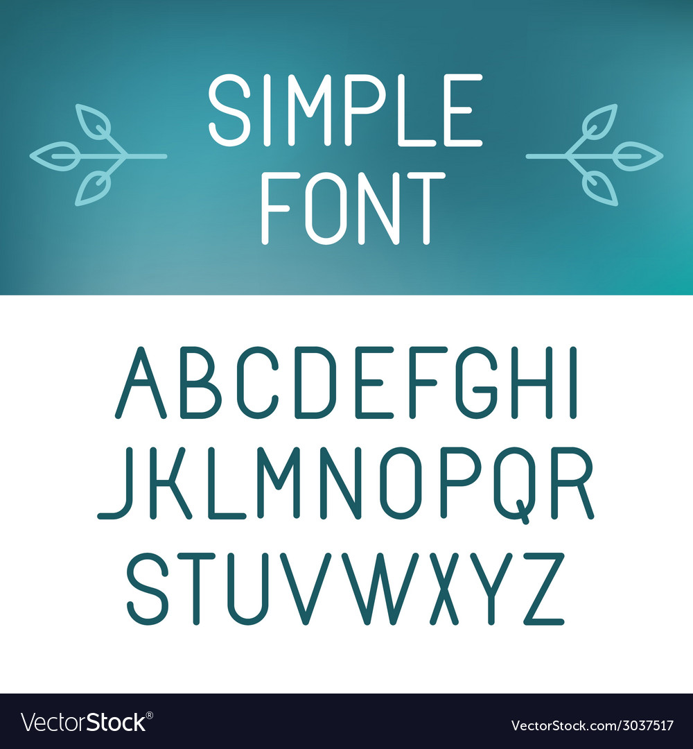 Simple font vector | Price: 1 Credit (USD $1)