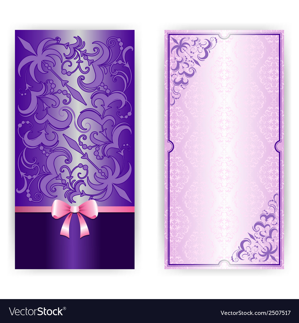 Template for greeting card invitation vector | Price: 1 Credit (USD $1)
