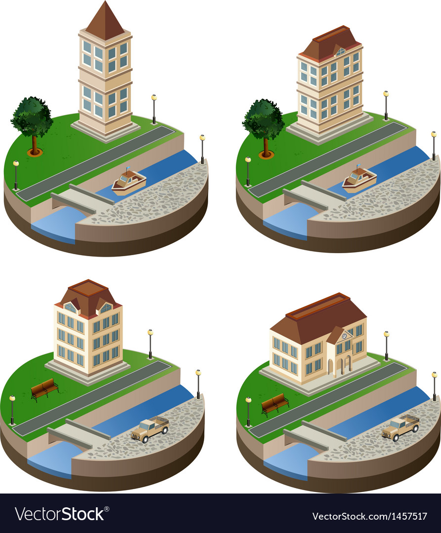 Urban landscape vector | Price: 1 Credit (USD $1)