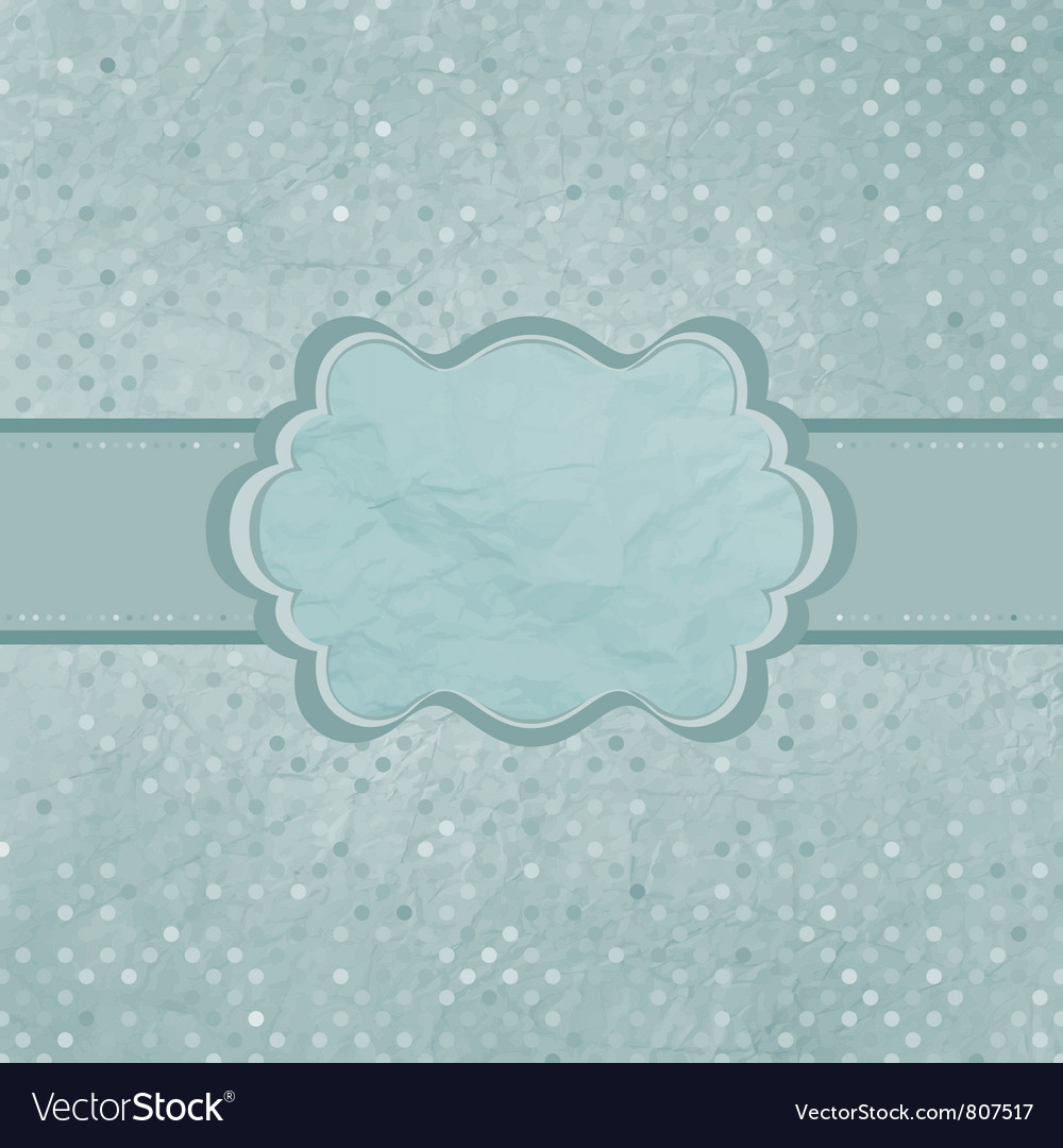 Vintage polka dots card vector | Price: 1 Credit (USD $1)