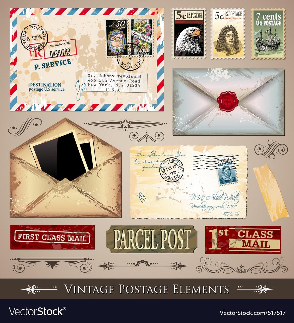 Vintage postmarks vector | Price: 3 Credit (USD $3)