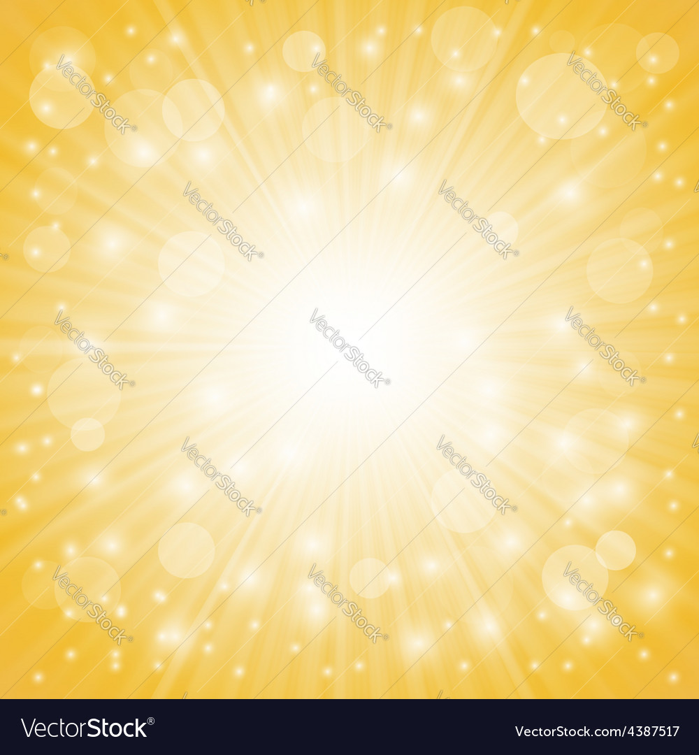 Yellow ray background vector | Price: 1 Credit (USD $1)
