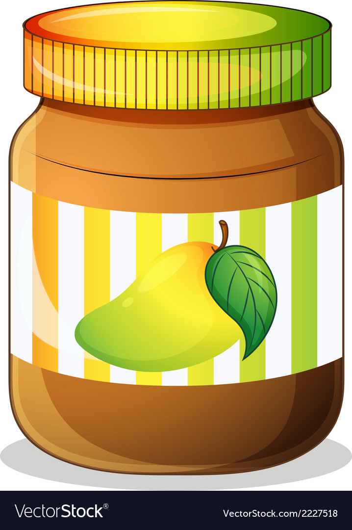 A mango jam in a bottle vector | Price: 1 Credit (USD $1)