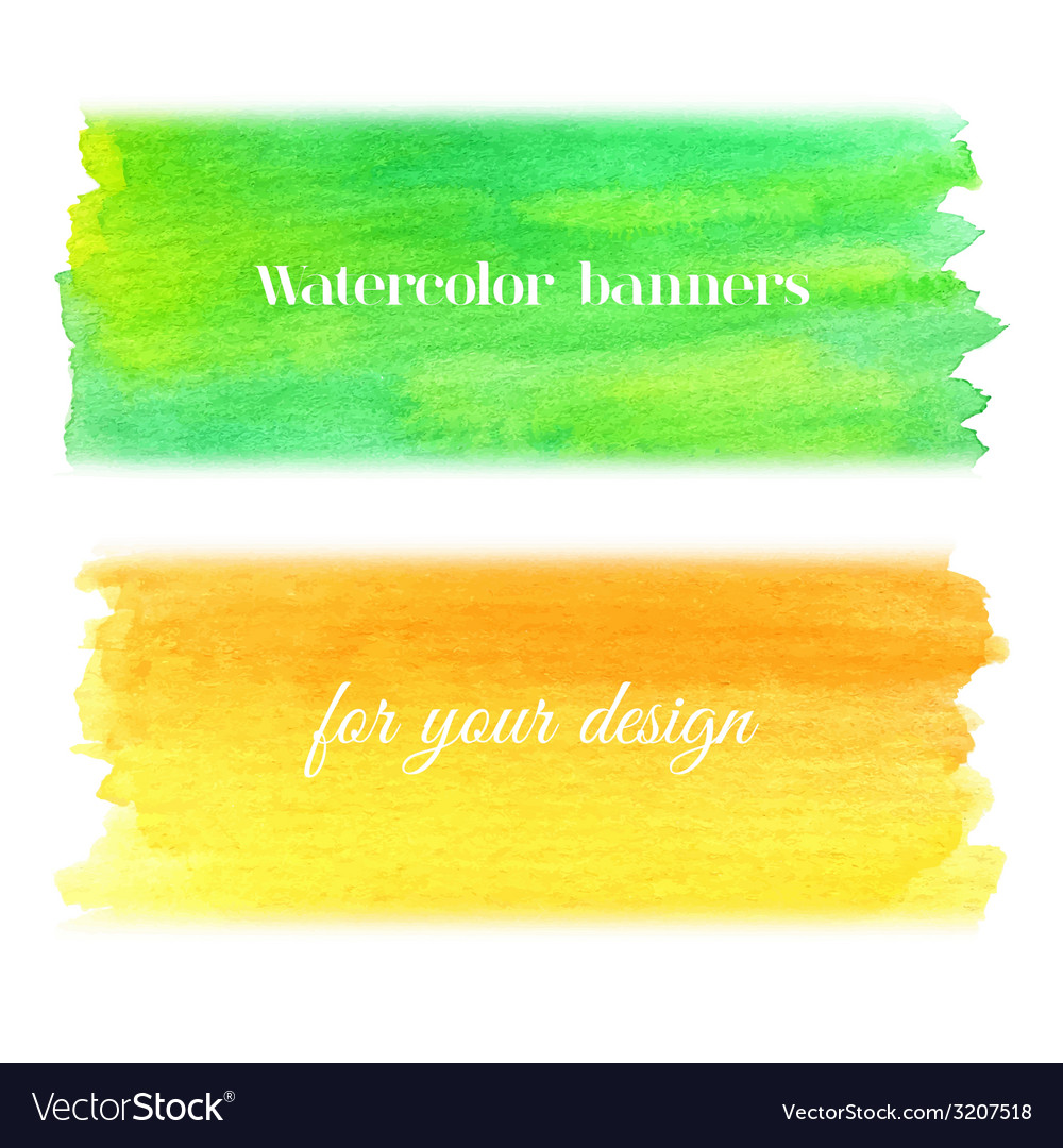 Bright watercolor banners set vector | Price: 1 Credit (USD $1)