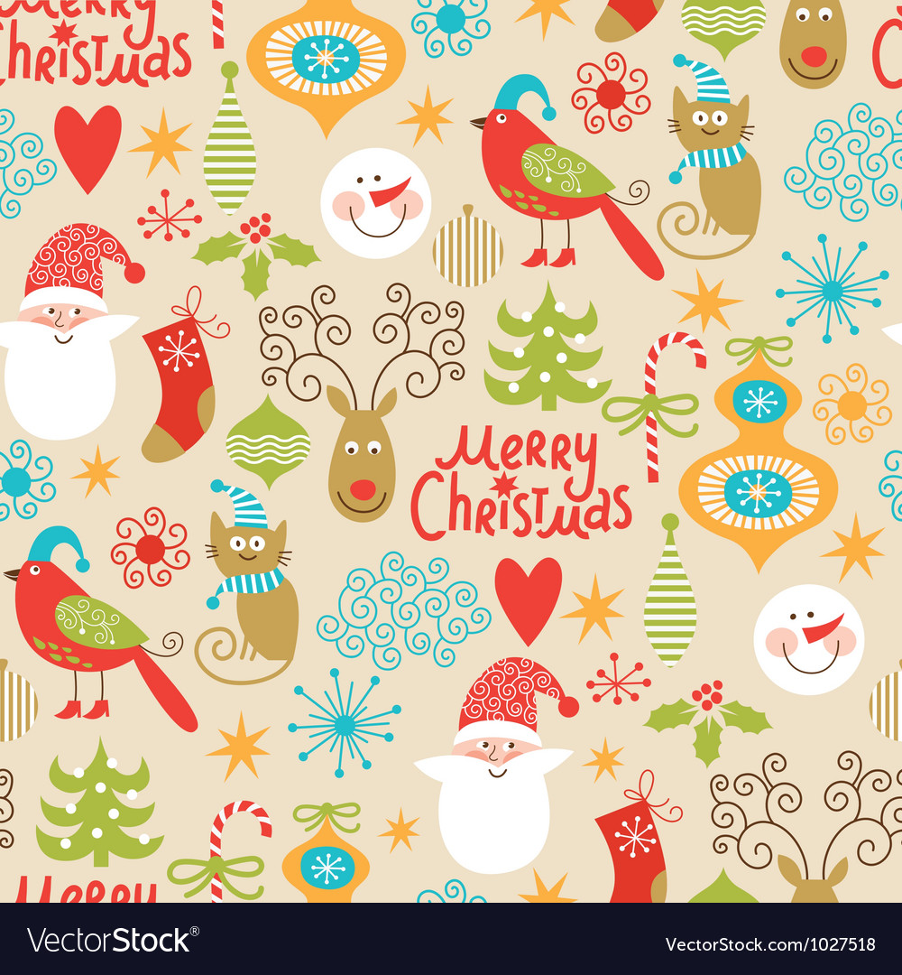 Christmas pattern vector | Price: 3 Credit (USD $3)