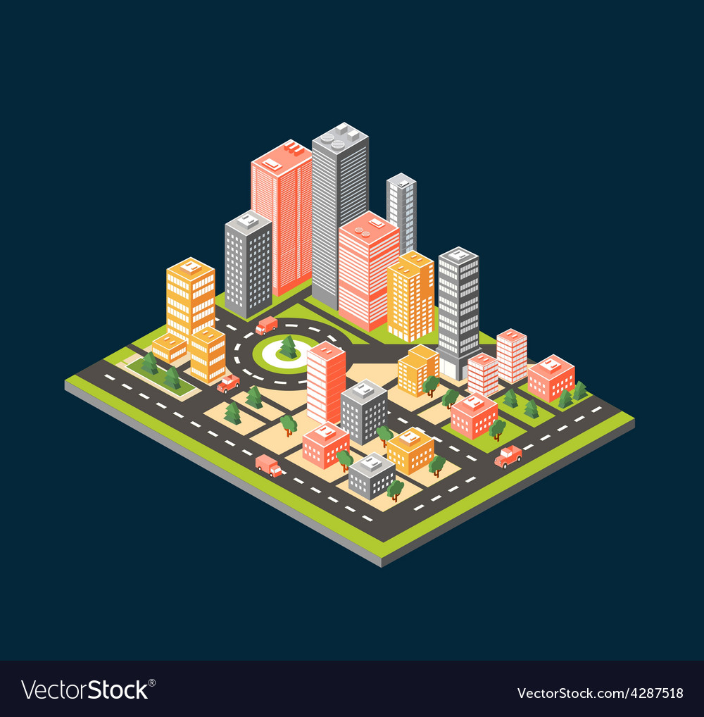 City style flat vector | Price: 1 Credit (USD $1)