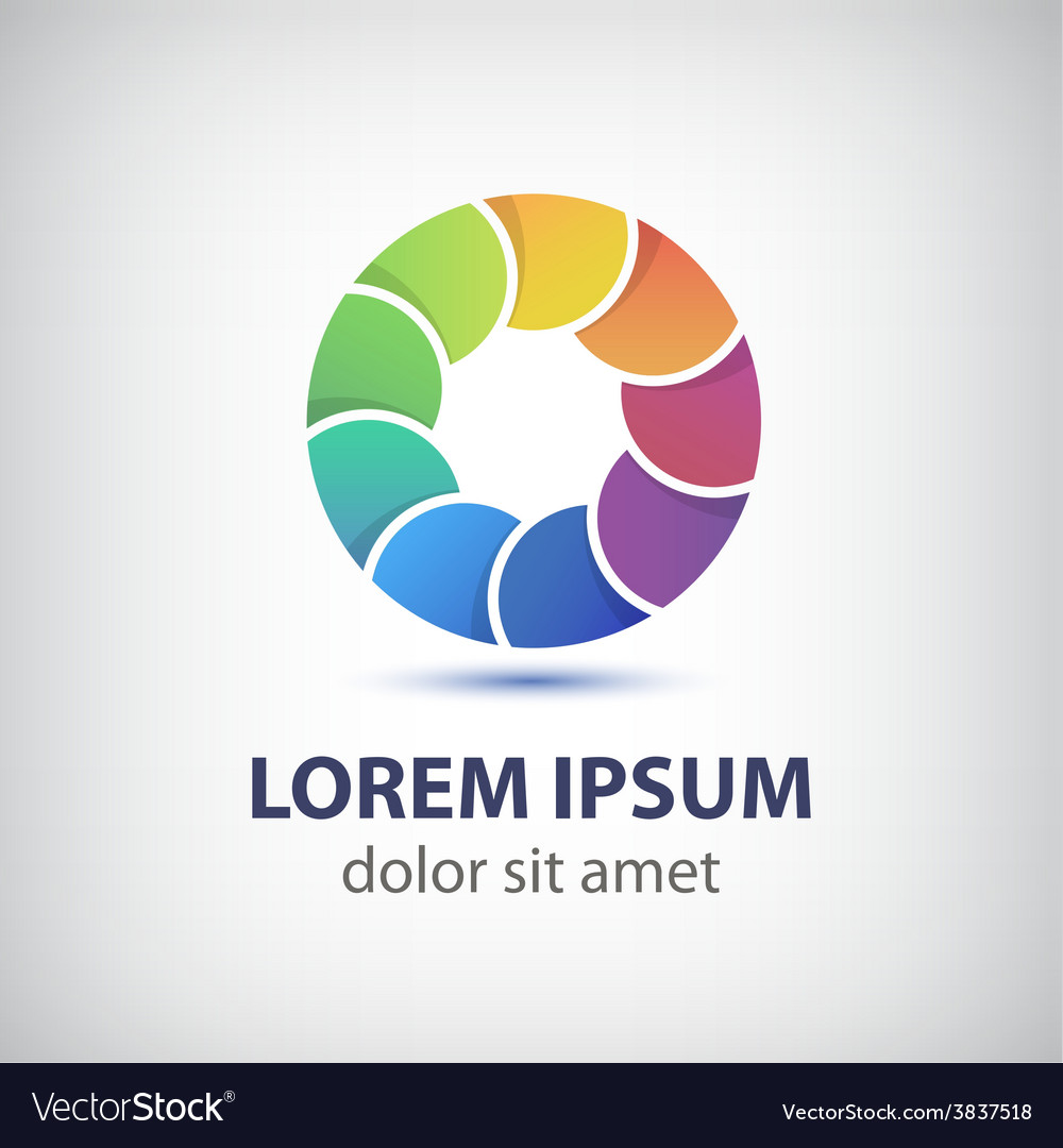 Colorful rainbow loop circle icon vector | Price: 1 Credit (USD $1)