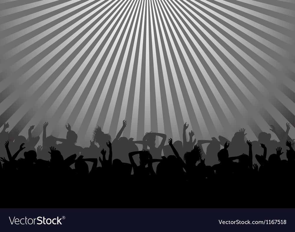 Dancing crowd vector | Price: 1 Credit (USD $1)