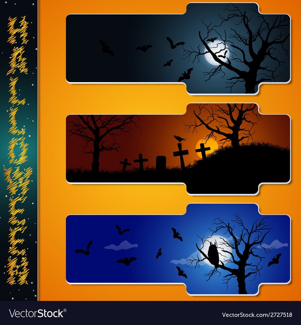 Halloween labels vector | Price: 1 Credit (USD $1)