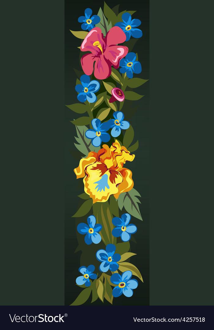 I letter flower capital alphabet colorful font vector | Price: 1 Credit (USD $1)